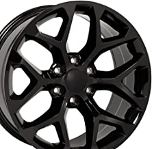 OE Wheels 22 Inch Fits Chevy Silverado Tahoe GMC Sierra Yukon Cadillac Escalade CV98 Gloss Black 22x9 Rim Hollander 5668