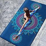 WangFenghua 183 × 68cm Tapis de Yoga imprimé 6mm Anti-Slip Daim TPECPRESSURE Débutant Pilates Tapis Professionnel pour Fitness Dance Gym Tapis de Massage (Color : Green)