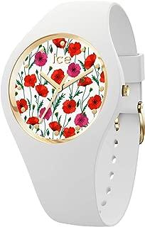 Ice Flower Womens Analog Quartz Watch with Silicone Bracelet IC016665