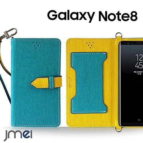 Galaxy Note 8 ケース手帳型 ギャラクシー ノート 8 カバー ブランド 手帳 閉じたまま通話ケース VESTA ブルー Samsung サムスン SC-01K SCV37 simフリー スマホ カバー 携帯ケース 手帳型 スマホケース 全機種