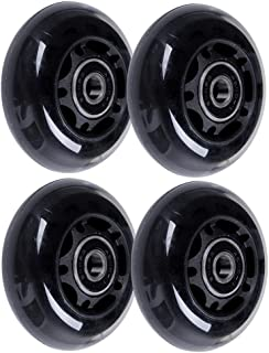 AOWISH 64mm Inline Skate Wheels 85A [4-Pack] Beginner Kids Roller Blades Replacement Wheel with Bearings ABEC-9 for Adjustable Hockey Inline Roller Skats and Luggage Suitcase