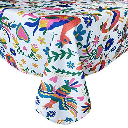 Newbridge Otomi Tischdecke mit Vogelmotiv, für drinnen und draußen, wasserabweisend, knitterfrei Shabby Chic 70