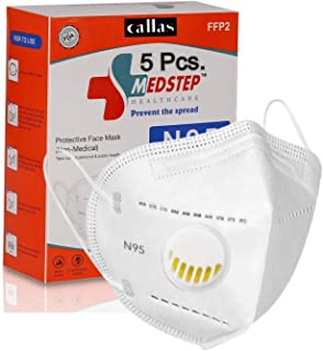 Callas Premium Quality N95 Re-usable Mask Anti Pollution, High Filtration Capacity 5 Layered With Respirator