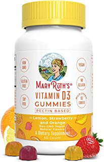 Vegan Vitamin D3 Gummy (Plant-Based) by MaryRuth's - Made from Lichen! Non-GMO, Paleo Friendly, Vegan, Gluten Free, for Me...