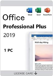 Office 2019 Professional Plus For Windows 10 32/64-Bit Lifetime License Card(not OEM)