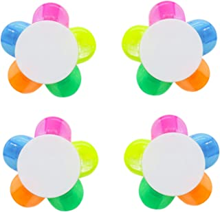 Pomeat Flower Shape Fluorescent Watercolor Pen Petals Highlighters, 4 Park