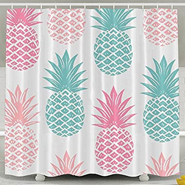 Exquisite Household Goods Colorful Pineapple Bath Curtain,shower Curtain 60 X 72 Inches For Home Bathroom Decorative Shower Bath Curtains Black