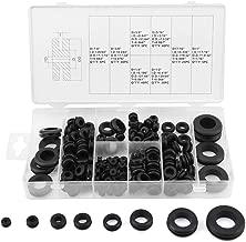 180Pcs Kit de arandela de goma, anillo de alambre Junta eléctrica Arandela de sellado Surtido