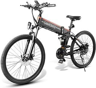 Lixada elcykel 60 cm fällbar power Assist E-Bike förvaringsbox Roller Moped Bike 48 V 500 W motor