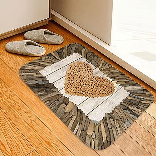 Shipenophy Tapis de Porte antidérapant Tapis décoratif de Salle de Bain pour Salon pour Cuisine(40 * 60cm)