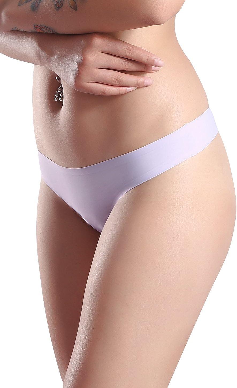 Wealurre Womens Microfiber Low Rise No Show Thong Pantie