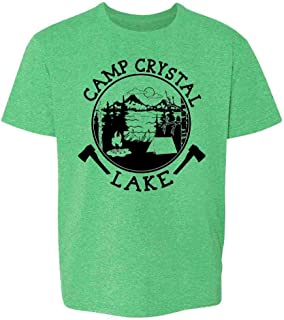 Pop Threads Camp Crystal Lake Counselor T Shirt Horror Costume Youth Kids Girl Boy T-Shirt