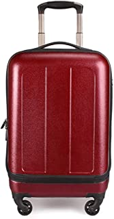 XLHJFDI Super Lightweight Hard Shell Travel Carry On Cabin Hand Luggage Suitcase with 4 Wheels, Business Trolley Case,Universal Wheel Suitcase,ABS+PC (Color : Red)