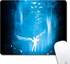 Gaming Office Mouse Pad ZYCCW Customized Angel Wings Surface Natural Rubber Desk Mouse-Pad Rectangle Mouse Pad (9.45x7.87inch)