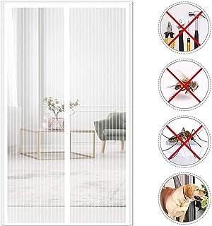ventilaci/ón de verano alejado de mosquitos insectos Mosquiteras magn/éticas para puerta de malla blanca cortina se adapta a puertas