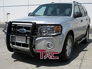 TAC Grill Guard Fit 2008-2012 Ford Escape/Escape Hybrid / 2008-2012 Mazda Tribute Black Front Bumper Brush Nudge Push Bull Bar