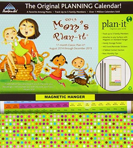 Mom's Plan-It 17-Month August 2014 - December 2015 Calendar