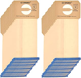EZ SPARES 30 Pcs Replacements for Electrolux Upright Vacuum Cleaner Style U Electrolux Type U Bags,Paper Dust Bag,Made of Paper, More Environmentally Friendly