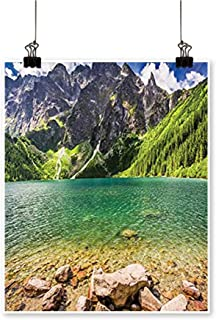 Canvas Painting Lake in The Middle of The Tatra Mountains Poland and Forest at Home Decor on Canvas,20