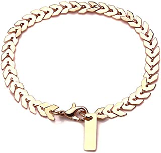 SX Commerce Golden Leaf Bracelet Hand Jewelry Fashion Lady Accessory Bracelet Simple Fashion Bracelet for Women Girls Jewe...
