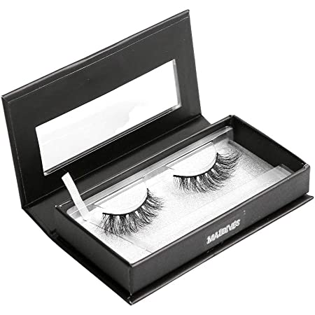 BEAUTY CAT 3D False Mink Eyelashes Classic Size No. 001 MALDIVES for Full Long Dramatic and Natural Look with Comfortable Wearing Strip Lashes by Handmade, Soft & Light Weight Fluffy Faux Eyelash with Luxury Packaging Box for Eye Makeup and Reusable from South Korea