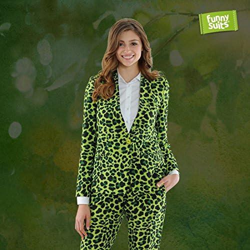 Funnysuits JagGrün Größer Jaguar Damen Anzug Miss Grün 2-Teiliges Kostüm Deluxe EU Größe 36