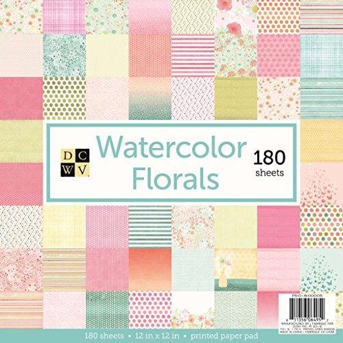 DCWV Watercolor Florals Stack de Papeles 30x30cm -