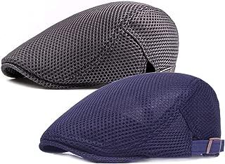 Men's Breathable Mesh Summer Hat Flat Cap Beret Ivy Gatsby Newsboy Cabbie Caps