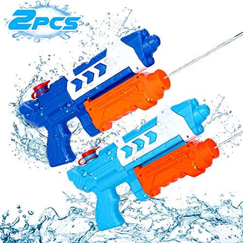 Ucradle Wasserpistole Spielzeug, 2 Pack Water Gun Spielzeug 500 ML mit 10 Meter Reichweite, Super Squirt Wasserpistolen - Sommer Freibad Strand Park Garten, Geschenk für Kinder Jungen Mädchen
