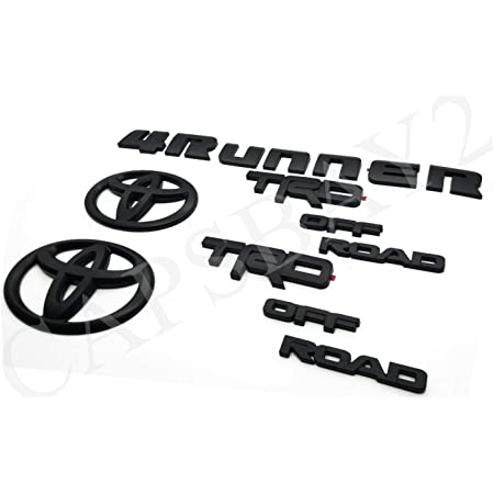 TUNDRA made from Durable ABS Plastic PT948-35180-02 Made by Alpha Prime Marketplace BLACKOUT EMBLEM OVERLAY V6 FITS 2016-2020 4RUNNER SR5 TACOM LIMITED SR5 TRD OFF ROAD x