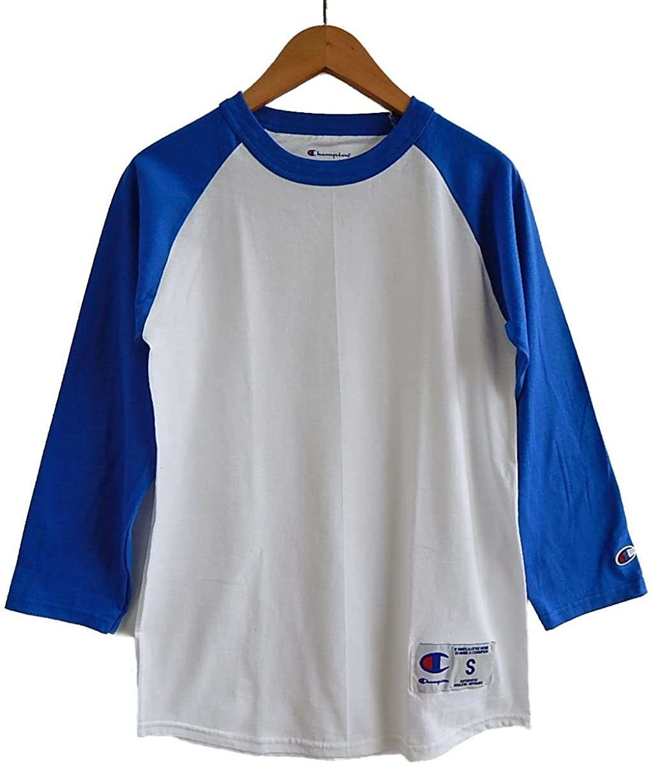 構造的あいまいなフレームワーク(チャンピオン) CHAMPION ラグラン ベースボールシャツ (M, WHITE/T BLUE) [並行輸入品]