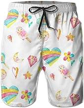 Love girl Shorts de Playa de Secado rápido para Hombres Escuche Coloridos Forros de Malla de paletas Troncos de Surf para Nadar con Bolsillos