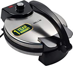 iBELL 150RM Nonstick Chapathi/Roti Maker Big Size with Temperature Control 1500W, 27cm Diameter, Black
