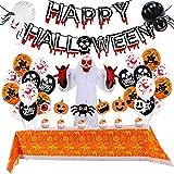 KOUQI Traje De Globo Blood Banner Paper Honeycomb Stereo Ghost Set Party Decoration Balón Celular de Halloween 2