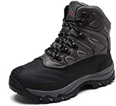 quicksilk men's waterproof snow boots hiking boot