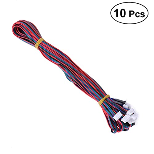 UEETEK 10pcs 3D Printer Stepper Motor Cable Lead Wire HX2.54 4 pin to 6