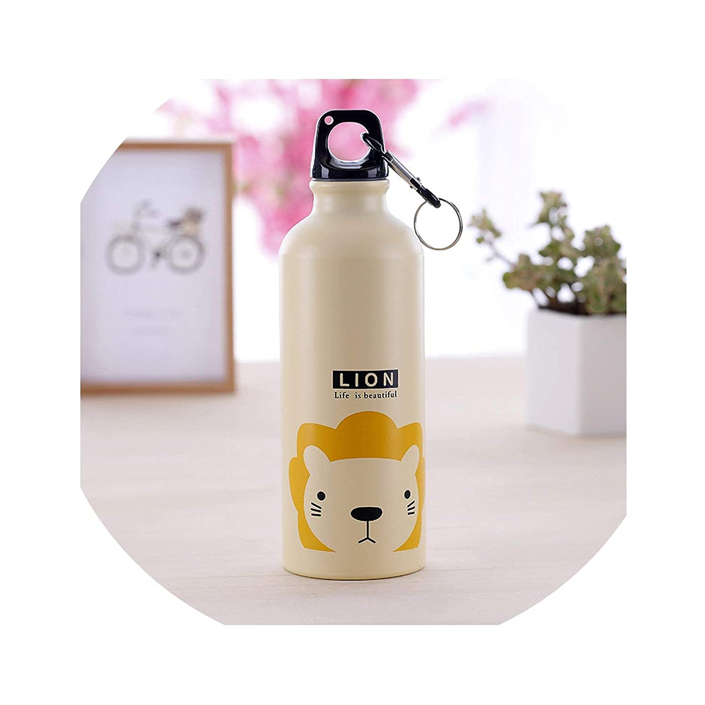 Love-pink Kids Gift Portable Water Bottle Cute Animal Pattern Bottle Cup Outdoor Sport Hiking Climping Drinking Bottle,Spain,0.5L,Brown