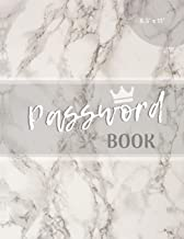 Password Book: Marble Password Journal | Large Print with alphabetical Tabs (8.5 x 11 inches)