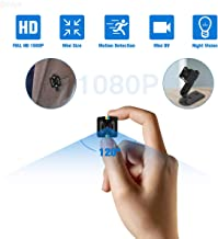 Mini Spy Camera Hidden Camera, Small Camera HD 1080P Cop Cam 140° Wide Angle Security Camera with Night Vision Nanny Cam, 360° Adjustable Bracket Car Mini Camera for Motion Detection TV Out