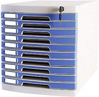 File Cabinets Armoire de rangement à clés plates avec 10 tiroirs - Multicolore - 29,5 x 39,4 x 32,5 cm - Meuble de bureau ...