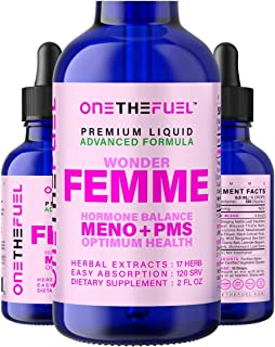 Wonder Femme - Hormone Balance Complex, Menopause Hot Flashes Depression Mood Relief + PMS Support - All Natural 17 Adapto...