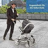 reer RainSafe Regenschutz für Babyschale, gute Luftzirkulation, großes Sichtfeld, schadstoff-frei