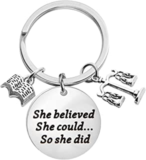 Lawyer Gift Law School Graduation Gift She Believed She Could So She Did Keychain Law Student Gift Future Lawyer Gift