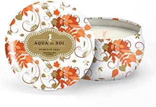 SOI Company The Aqua de SOI 100% Premium Natural Soy Candle, Limited Edition Seasonal Scent, 9 Ounces (Pumpkin Chai)