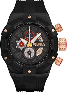 Brera Orologi Men's Supersportivo Black, Black, Black & Rosegold 48mm BRSSC4923B