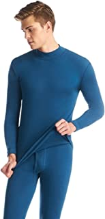 LLTT Underwear Winter Mens Womens Warm Thermal Set Winter Bottoms Half Collar Undershirts Thick Invisible Elasticity (Colo...