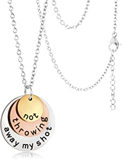 Not Throwing Away My Shot, Hamilton Necklace Gifts, Hamilton Charm Rise Up Necklace, Tri-Layer Broadway Musical Merchandis...