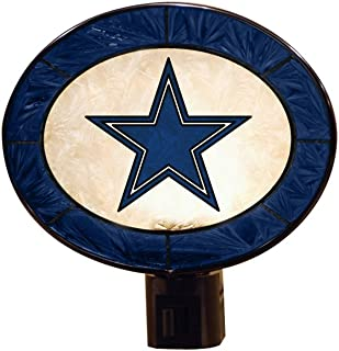 Dallas Cowboys Art Glass Night Light