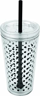 Copco 2510-0432 Minimus Tumbler with Straw, 24-Ounce, Black Dots