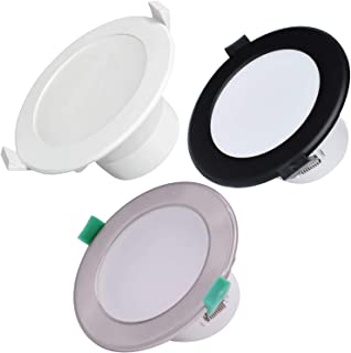 6 X Flush Flat 10W/12W/16W LED Downlight Dimmable 70/90/120mm Cutout Recessed Ceiling Lights Downlight Lamps IP44 Waterpro...